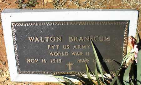 BRANSCUM  (VETERAN  WWII), WALTON - Stone County, Arkansas | WALTON BRANSCUM  (VETERAN  WWII) - Arkansas Gravestone Photos