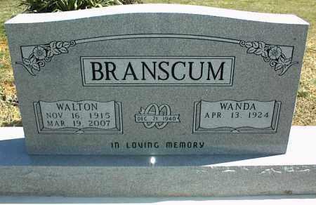 BRANSCUM, WALTON - Stone County, Arkansas | WALTON BRANSCUM - Arkansas Gravestone Photos