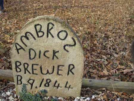 BREWER, AMBROS DICK - Stone County, Arkansas | AMBROS DICK BREWER - Arkansas Gravestone Photos