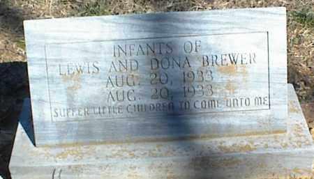 BREWER, INFANTS - Stone County, Arkansas   INFANTS BREWER - Arkansas Gravestone Photos