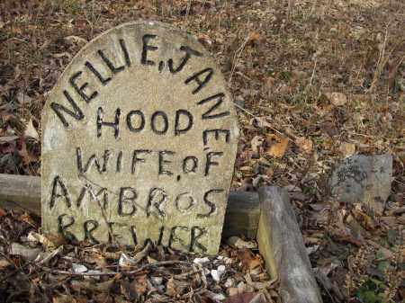 HOOD BREWER, NELLIE - Stone County, Arkansas | NELLIE HOOD BREWER - Arkansas Gravestone Photos