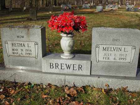 BREWER, MELVIN L - Stone County, Arkansas   MELVIN L BREWER - Arkansas Gravestone Photos