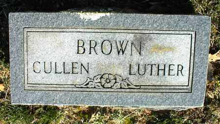 BROWN, CULLEN LUTHER - Stone County, Arkansas | CULLEN LUTHER BROWN - Arkansas Gravestone Photos