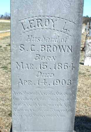 BROWN, LEROY L. - Stone County, Arkansas | LEROY L. BROWN - Arkansas Gravestone Photos
