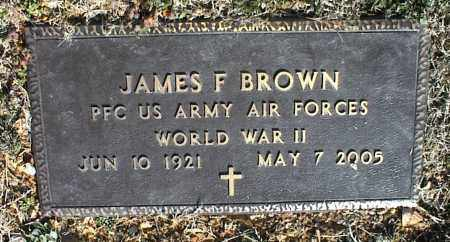 BROWN (VETERAN WWII), JAMES F - Stone County, Arkansas | JAMES F BROWN (VETERAN WWII) - Arkansas Gravestone Photos