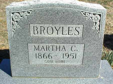BROYLES, MARTHA C. - Stone County, Arkansas | MARTHA C. BROYLES - Arkansas Gravestone Photos