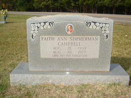 SIMMERMAN CAMPBELL, FAITH ANN - Stone County, Arkansas | FAITH ANN SIMMERMAN CAMPBELL - Arkansas Gravestone Photos