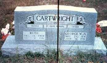 CARTWRIGHT, GEORGE W - Stone County, Arkansas   GEORGE W CARTWRIGHT - Arkansas Gravestone Photos