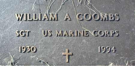 COOMBS (VETERAN), WILLIAM A - Stone County, Arkansas   WILLIAM A COOMBS (VETERAN) - Arkansas Gravestone Photos