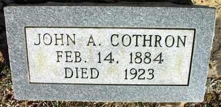 COTHRON, JOHN A. - Stone County, Arkansas | JOHN A. COTHRON - Arkansas Gravestone Photos