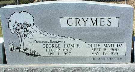 CRYMES, GEORGE HOMER - Stone County, Arkansas | GEORGE HOMER CRYMES - Arkansas Gravestone Photos