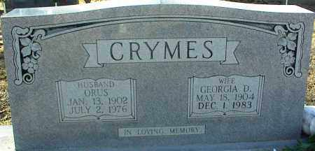 CRYMES, GEORGIA D. - Stone County, Arkansas | GEORGIA D. CRYMES - Arkansas Gravestone Photos