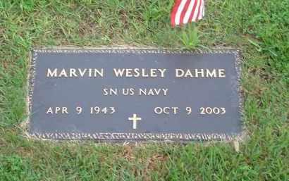 DAHME, MARVIN WESLEY (MIL) - Stone County, Arkansas   MARVIN WESLEY (MIL) DAHME - Arkansas Gravestone Photos
