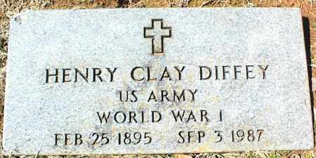 DIFFEY (VETERAN WWI), HENRY CLAY - Stone County, Arkansas | HENRY CLAY DIFFEY (VETERAN WWI) - Arkansas Gravestone Photos