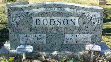 DODSON, ARTIE E. - Stone County, Arkansas | ARTIE E. DODSON - Arkansas Gravestone Photos
