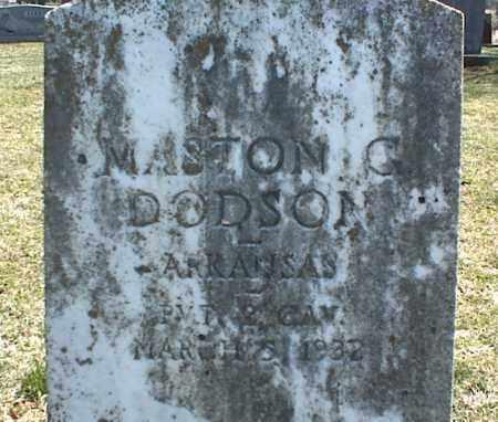 DODSON, MASTON G. - Stone County, Arkansas   MASTON G. DODSON - Arkansas Gravestone Photos