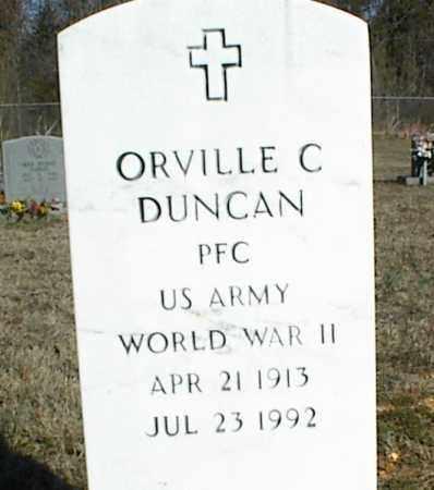 DUNCAN (VETERAN WWII), ORVILLE C - Stone County, Arkansas | ORVILLE C DUNCAN (VETERAN WWII) - Arkansas Gravestone Photos