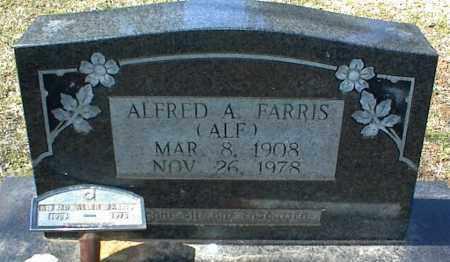 FARRIS, ALFRED A. - Stone County, Arkansas   ALFRED A. FARRIS - Arkansas Gravestone Photos