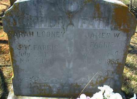 FARRIS, JAMES W. - Stone County, Arkansas   JAMES W. FARRIS - Arkansas Gravestone Photos