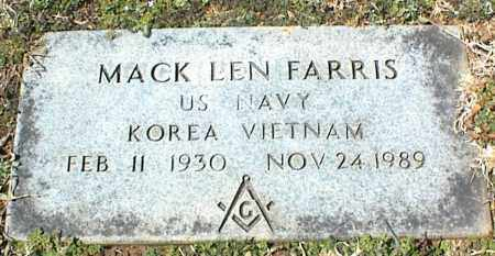 FARRIS (VETERAN 2 WARS), MACK LEN - Stone County, Arkansas | MACK LEN FARRIS (VETERAN 2 WARS) - Arkansas Gravestone Photos