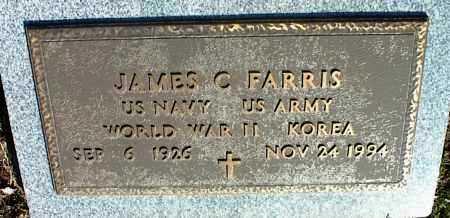 FARRIS (VETERAN 2 WARS), JAMES C - Stone County, Arkansas | JAMES C FARRIS (VETERAN 2 WARS) - Arkansas Gravestone Photos