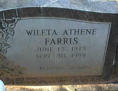 FARRIS, WILETA ATHENE - Stone County, Arkansas | WILETA ATHENE FARRIS - Arkansas Gravestone Photos
