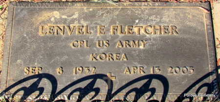 FLETCHER  (VETERAN KOR), LENVEL E - Stone County, Arkansas | LENVEL E FLETCHER  (VETERAN KOR) - Arkansas Gravestone Photos