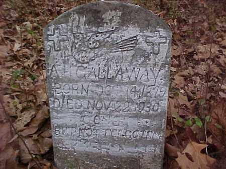 GALLAWAY, A. H. - Stone County, Arkansas | A. H. GALLAWAY - Arkansas Gravestone Photos