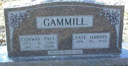 GAMMILL, CONWAY PAUL - Stone County, Arkansas   CONWAY PAUL GAMMILL - Arkansas Gravestone Photos