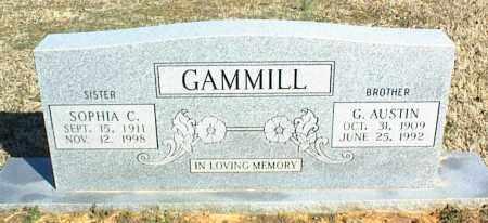 GAMMILL, G. AUSTIN - Stone County, Arkansas   G. AUSTIN GAMMILL - Arkansas Gravestone Photos