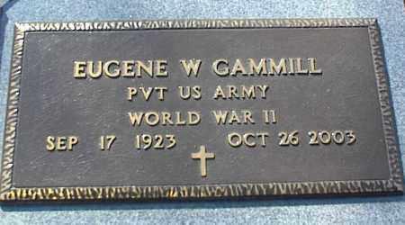 GAMMILL (VETERAN WWII), EUGENE W - Stone County, Arkansas | EUGENE W GAMMILL (VETERAN WWII) - Arkansas Gravestone Photos