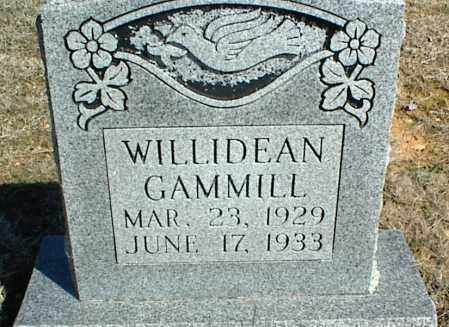 GAMMILL, WILLIDEAN - Stone County, Arkansas | WILLIDEAN GAMMILL - Arkansas Gravestone Photos