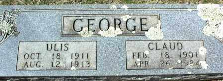 GEORGE, CLAUD - Stone County, Arkansas | CLAUD GEORGE - Arkansas Gravestone Photos