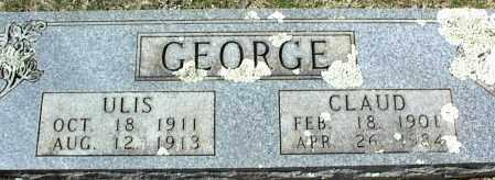 GEORGE, ULIS - Stone County, Arkansas | ULIS GEORGE - Arkansas Gravestone Photos
