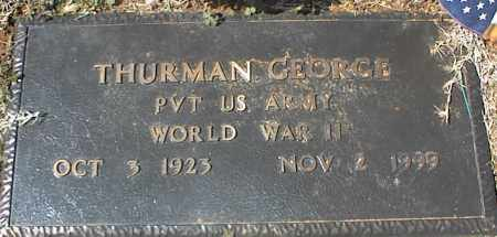 GEORGE (VETERAN WWII), THURMAN - Stone County, Arkansas | THURMAN GEORGE (VETERAN WWII) - Arkansas Gravestone Photos