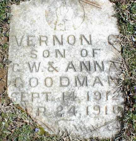 GOODMAN, VERNON C. - Stone County, Arkansas | VERNON C. GOODMAN - Arkansas Gravestone Photos