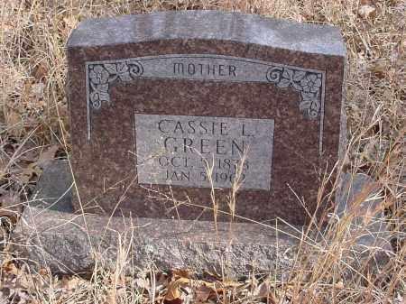 GREEN, CASSIE - Stone County, Arkansas | CASSIE GREEN - Arkansas Gravestone Photos