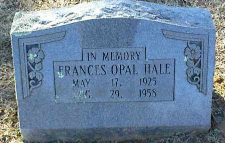 HALE, FRANCES OPAL - Stone County, Arkansas | FRANCES OPAL HALE - Arkansas Gravestone Photos