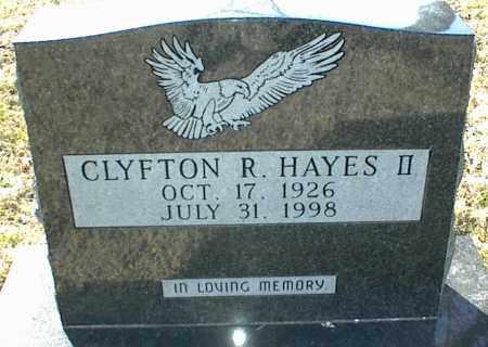 HAYES II, CLYFTON R. - Stone County, Arkansas   CLYFTON R. HAYES II - Arkansas Gravestone Photos