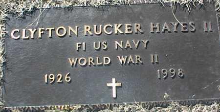 HAYES II (VETERAN WWII), CLYFTON RUCKER - Stone County, Arkansas | CLYFTON RUCKER HAYES II (VETERAN WWII) - Arkansas Gravestone Photos