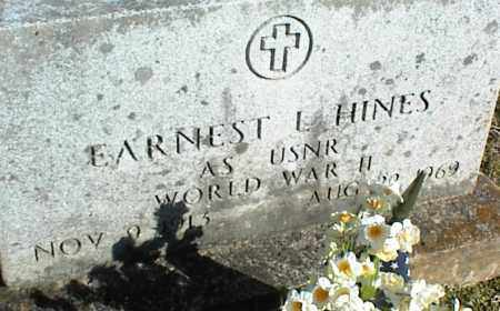 HINES (VETERAN WWII), EARNEST L - Stone County, Arkansas | EARNEST L HINES (VETERAN WWII) - Arkansas Gravestone Photos