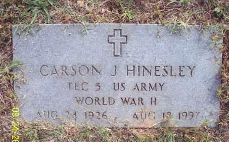 HINESLEY (VETERAN WWII), CARSON J - Stone County, Arkansas | CARSON J HINESLEY (VETERAN WWII) - Arkansas Gravestone Photos