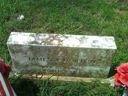 HORTON  (VETERAN WWI), JAMES A - Stone County, Arkansas   JAMES A HORTON  (VETERAN WWI) - Arkansas Gravestone Photos
