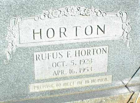 HORTON, RUFUS F. - Stone County, Arkansas   RUFUS F. HORTON - Arkansas Gravestone Photos