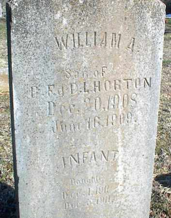 HORTON, WILLIAM A. - Stone County, Arkansas   WILLIAM A. HORTON - Arkansas Gravestone Photos