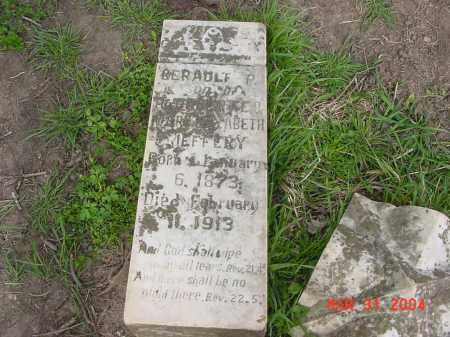 JEFFERY, GERAULT - Stone County, Arkansas | GERAULT JEFFERY - Arkansas Gravestone Photos
