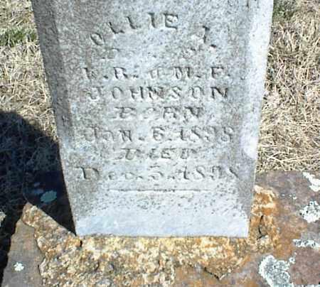 JOHNSON, OLLIE A. - Stone County, Arkansas   OLLIE A. JOHNSON - Arkansas Gravestone Photos
