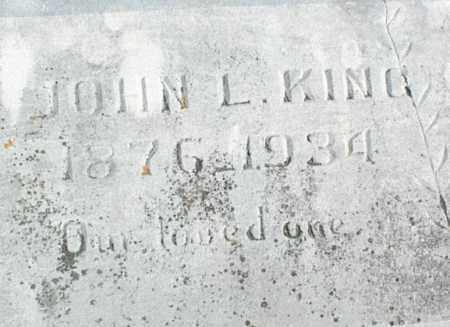 KING, JOHN L. - Stone County, Arkansas   JOHN L. KING - Arkansas Gravestone Photos