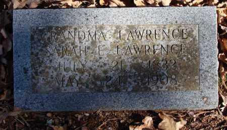 LAWRENCE, SARAH E. - Stone County, Arkansas | SARAH E. LAWRENCE - Arkansas Gravestone Photos