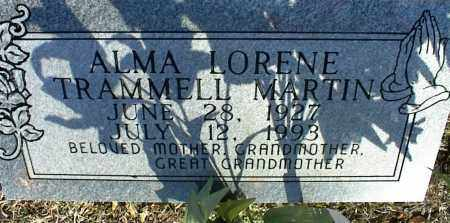 TRAMMELL MARTIN, ALMA LORENE - Stone County, Arkansas   ALMA LORENE TRAMMELL MARTIN - Arkansas Gravestone Photos